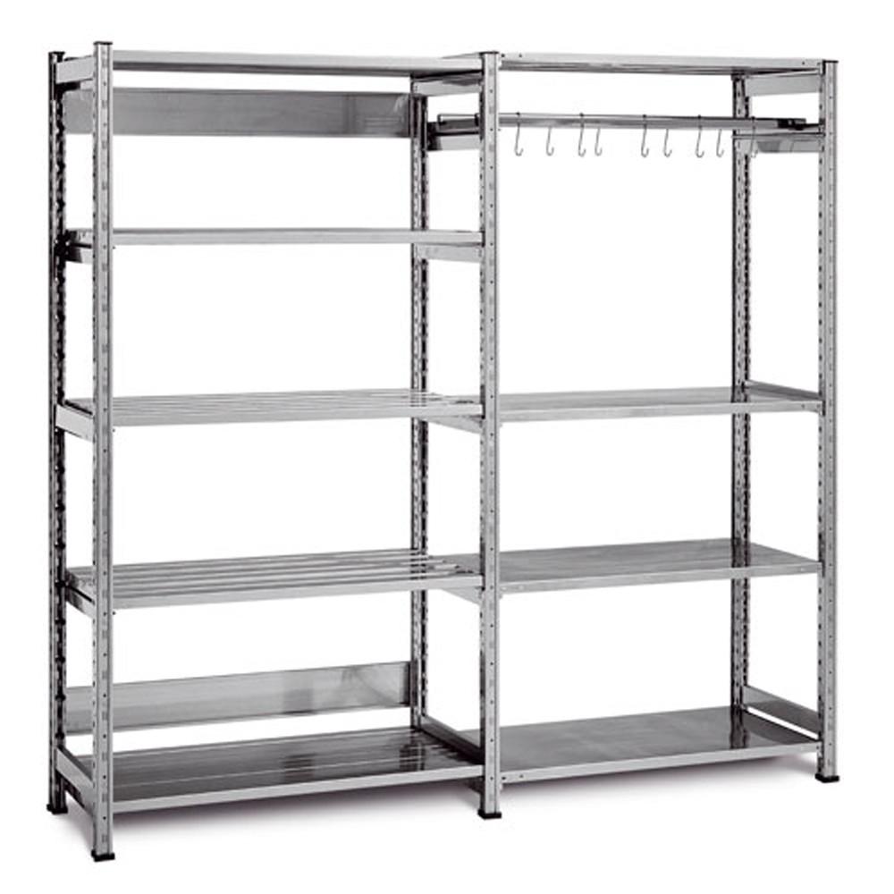 Scaffali acciaio componibili best scaffale ripiani in for Scaffalature metalliche ikea